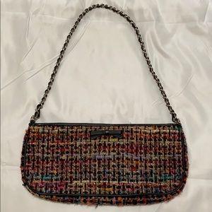 Colorful tweed handbag